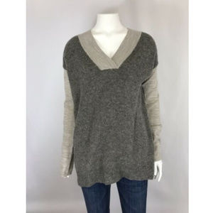 Anthropologie Moth Wool Blend V Neck Sweater
